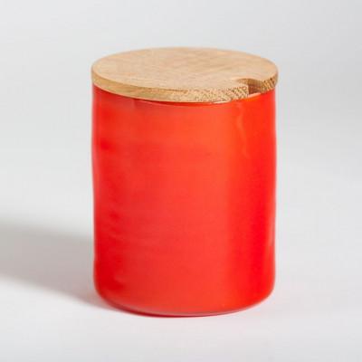 Rundes Marmeladenglas Rot