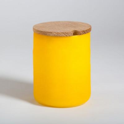 Rundes Marmeladenglas Gelb