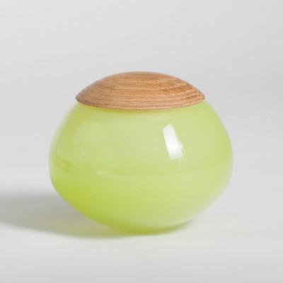 Einzigartiges Glasgefäß Grün
