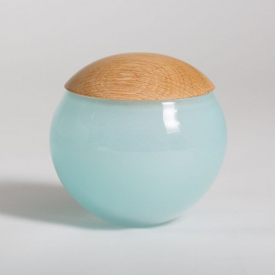 Einzigartiges Glasgefäß Hellblau