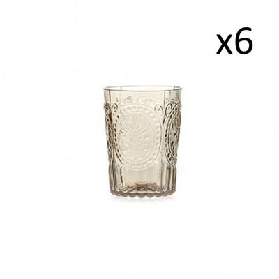 Glas Fleur de Lys 6er-Set   Champagner