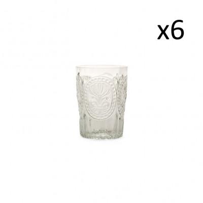 Glasfleur de Lys 6er-Set   Klar