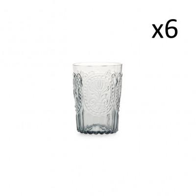 Glasfleur de Lys 6er-Set   Grau