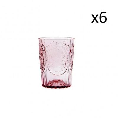 Glasfleur de Lys 6er-Set   Power Pink