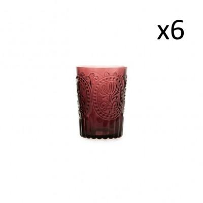 Glasfleur de Lys 6er-Set   Violett