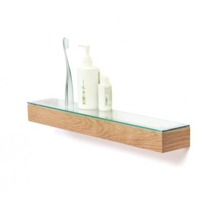 Slimline Glasablage 55 cm | Eiche