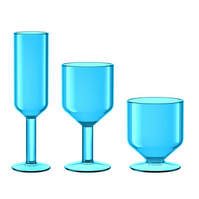 The Good Times Glasses Set of 6 | Blue