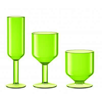 The Good Times Glasses Set of 6 | Green
