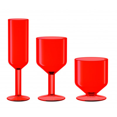 The Good Times Glasses Set of 6 | Red