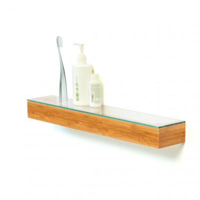 Glasablage 55 cm | Bambus