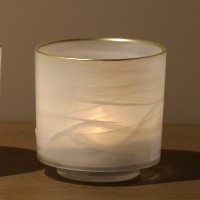 Dekoratives Glas | Weiß