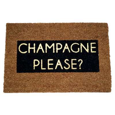 Glitzer Fußmatte   Champagne