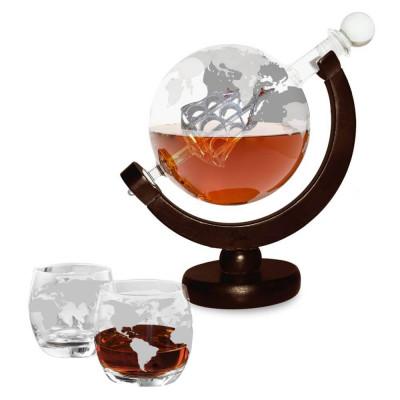 Karaffe + 2 Gläser | Globus