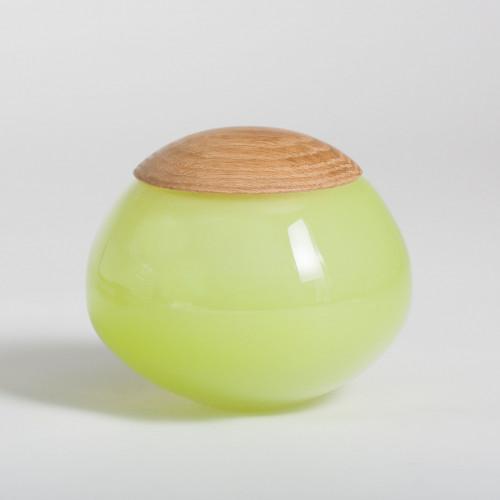 Unique Glass Jar Green
