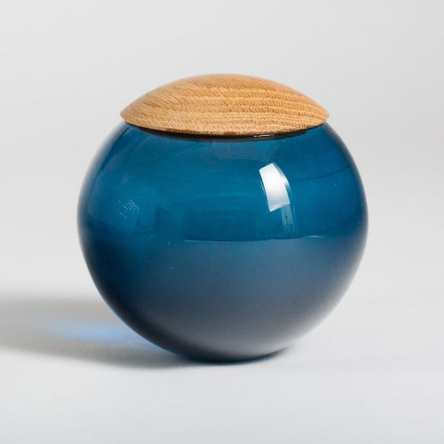 Unique Glass Jar Dark Blue