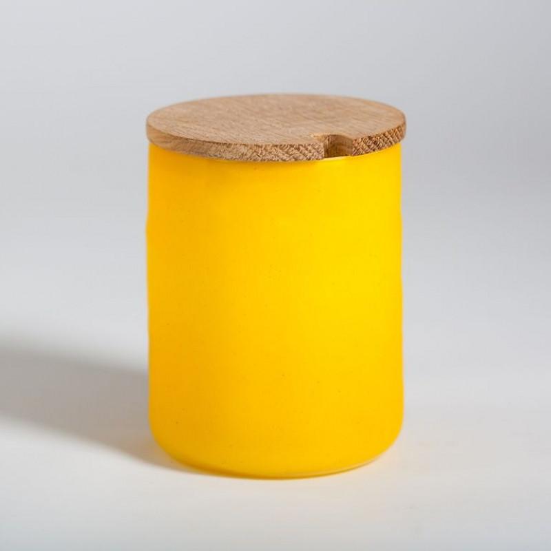 Round Jam Jar Yellow