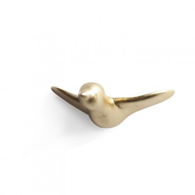 Wandhaken Vogel aus Keramik | Gold