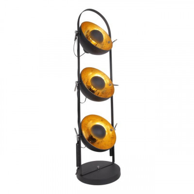 3 x Floor Lamp Golden Sun | Black & Gold