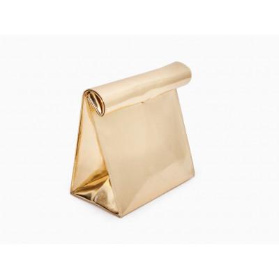 Lunch Bag   Gold Metallic
