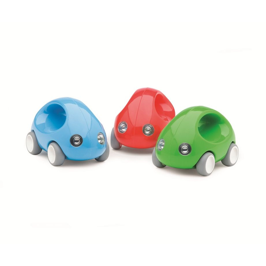 Set of 3 Go Cars Red, Blue, Green