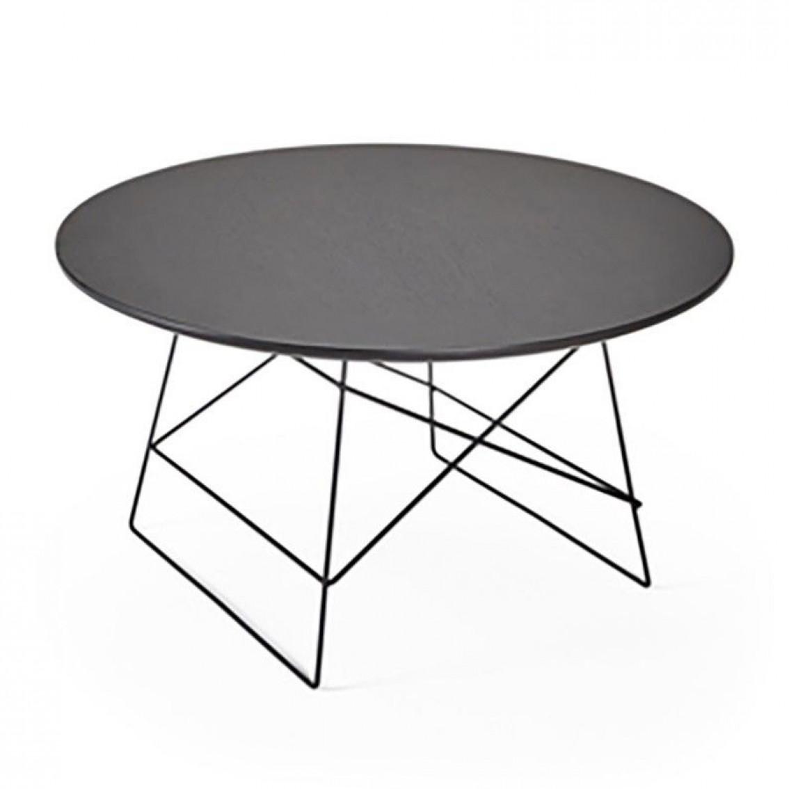 Grid Side Table Black | Large