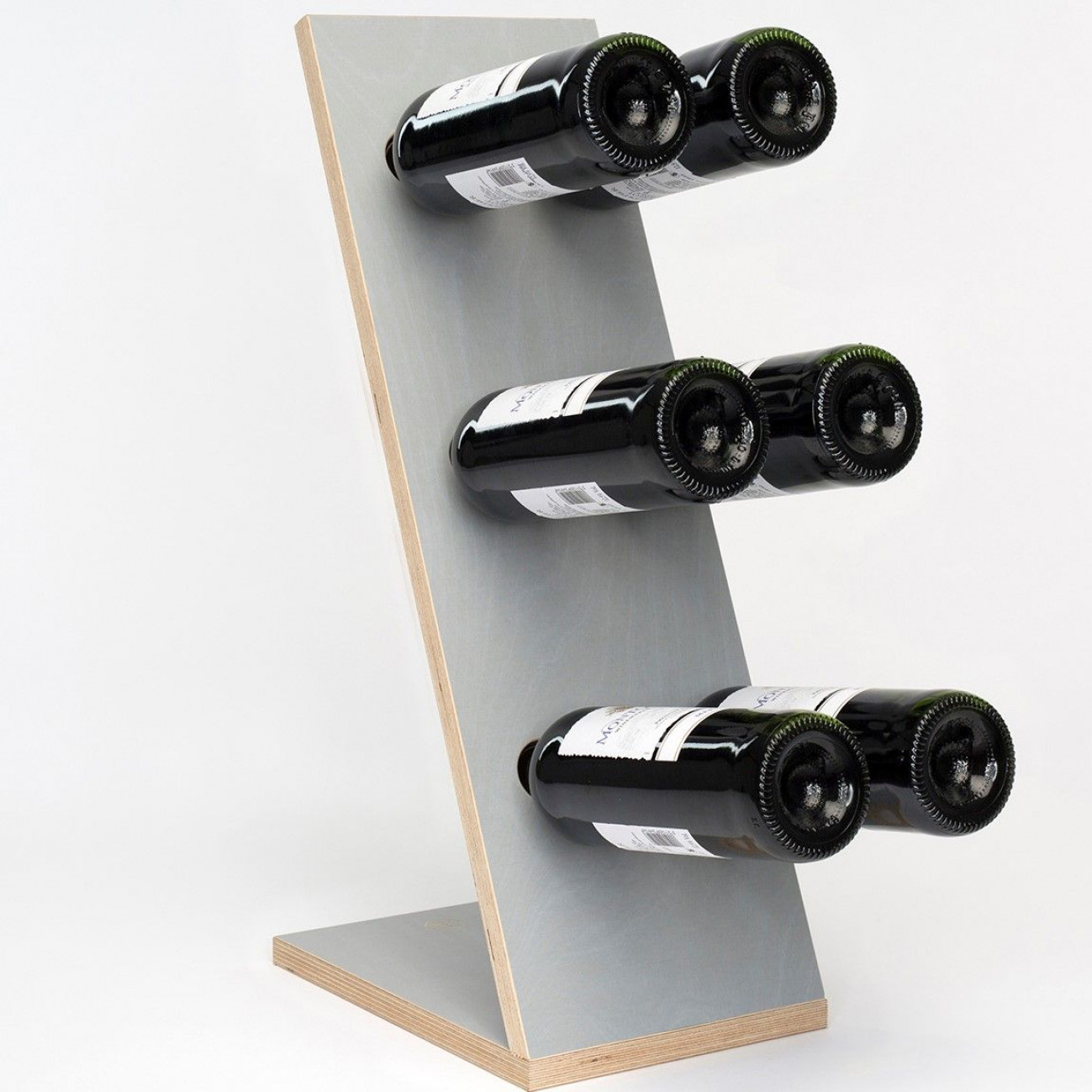 Wine Rack Compact Six   Grey