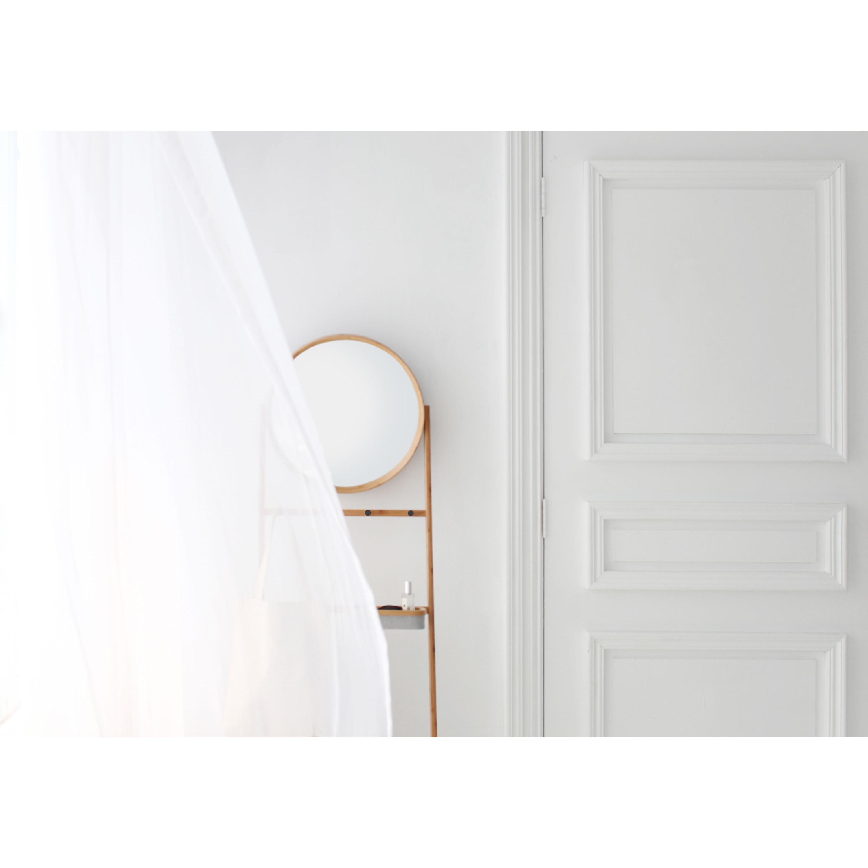 Grota | Leaning Storage Shelf with Mirror