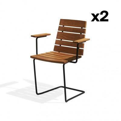 2-er Set Sessel Grinda | Teakholz