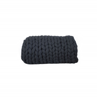 Chunky Wool Blanket | Graphite