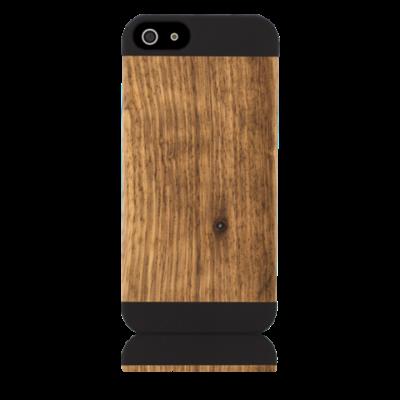 Grünes Etui Pop Iphone 5/5S | Schwarz & Zebraholz
