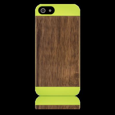Grünes Etui Pop Iphone 5/5S | Grün & Walnuss