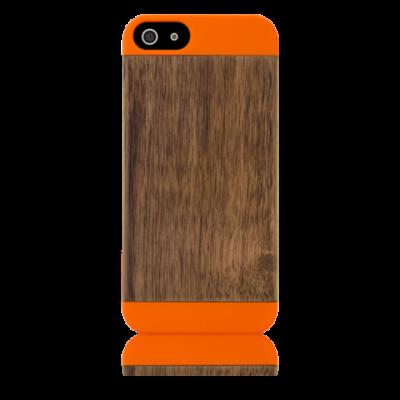Grünes Etui Pop Iphone 5/5S | Orange & Walnussholz