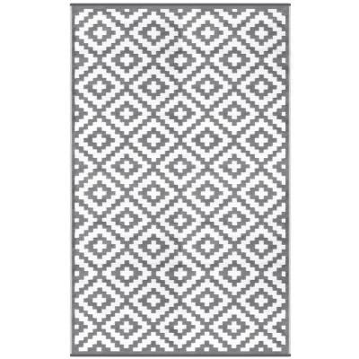 Indoor/Outdoor Plastic Rug Nirvana   Grey