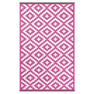 Indoor/Outdoor Plastic Rug Nirvana | Pink