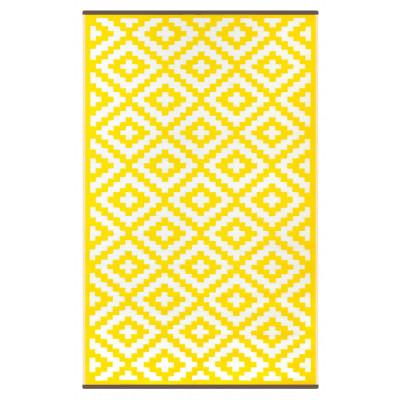 Indoor/Outdoor Plastic Rug Nirvana | Yellow
