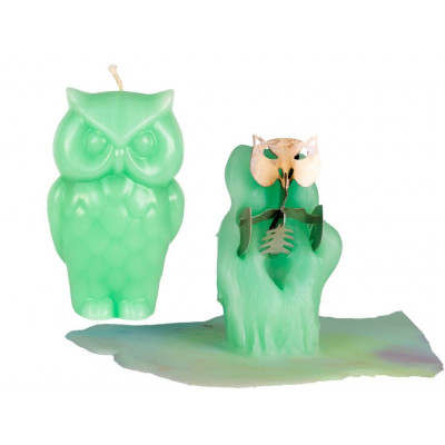 Owl Candle - Green