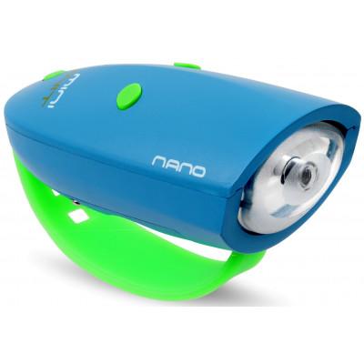 Fahrradlicht mit 15 Soundeffekten Mini Hornit Nano | Blau/Grün