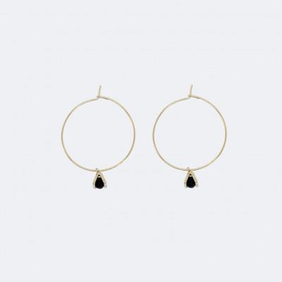 Gold-Hoop-Ohrringe | Winziger Dreieckscharm