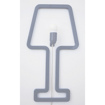 Wall Lamp ColoredShape Grey