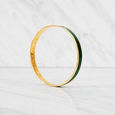 Thin Bangle Bracelet | Grey Green