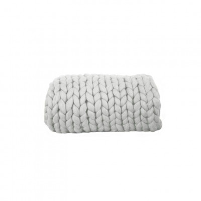 Chunky Wool Blanket | Grey
