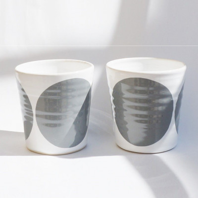 TINA Mug Set of 2   Grey