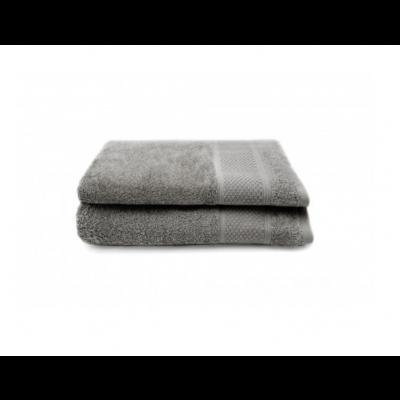 Set of 2 Bath Towels Gigi 50x100 cm | Grey