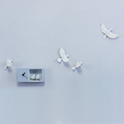 Uhr Sparrow | Hellgrau