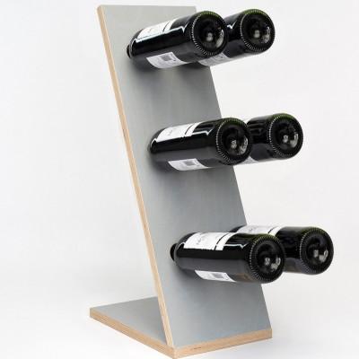 Wine Rack Compact Six | Grey