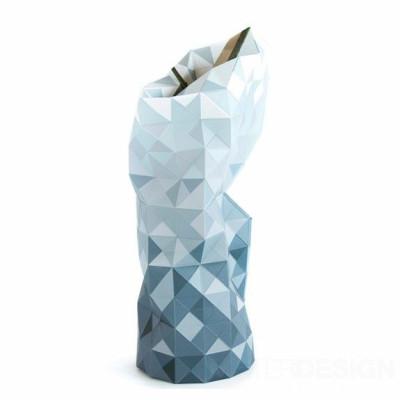 Papier Vase Abdeckung | Grau Gradient