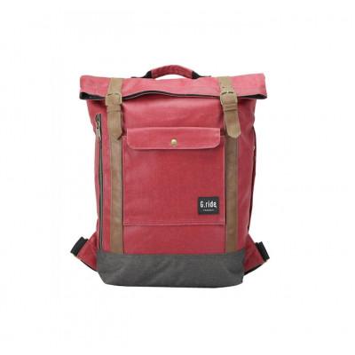 Backpack Balthazar   Red & Black