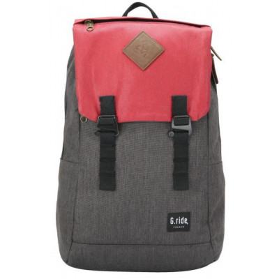 Backpack Albert   Black & Red