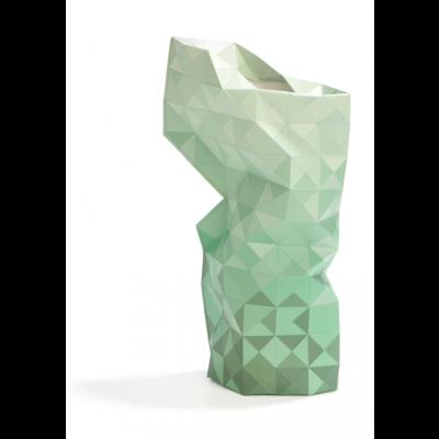 Papiervase Abdeckung | Grüner Farbverlauf