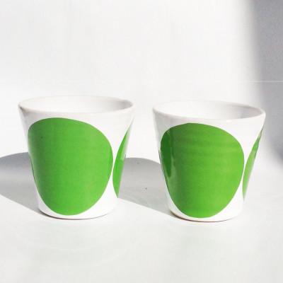 TINA Mug Set of 2   Green